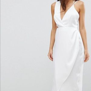 ASOS Cami Satin Pencil Dress with Side Cut Out